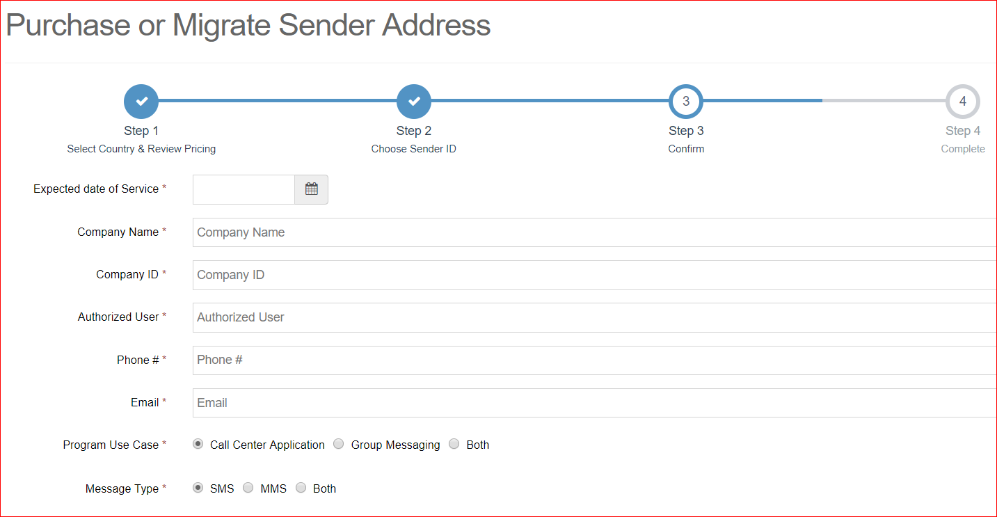 How to Purchase a Preprovisioned Sender Address in SCG